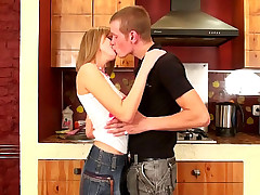 Remarkable horny golden-haired legal age immature acquiring face fucked coupled with loving on Easy Street